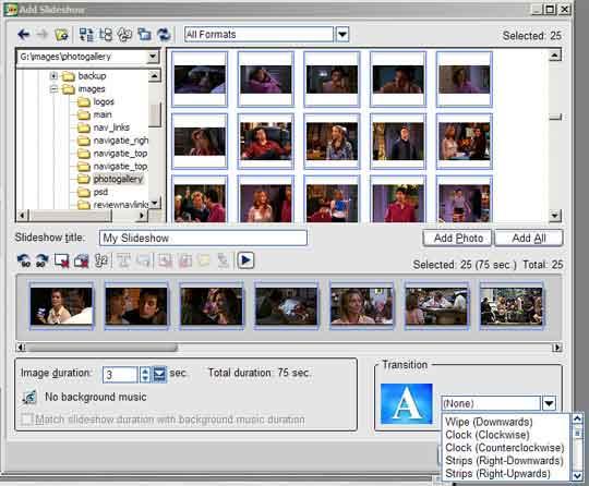 MovieFactory biedt nu de mogelijkheid om overgangen te gebruiken in uw slideshows.